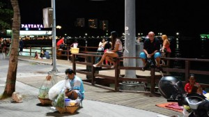 Pattaya beach promenade by night