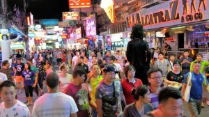 Tourists on Walking Street 2015