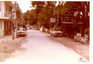 Pattaya street in the 1960s