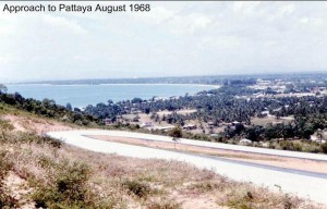 Pattaya bay from Pratamnak hill in 1968
