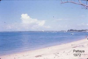Pattaya beach in 1972