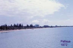 Pattaya coastline in 1972