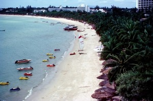Pattaya beach in 1982