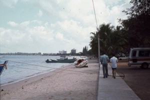 Pattaya Beach Road promenade in the early 1980s