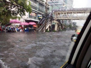 Flooding in Bangkok 24 March 2015