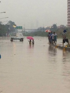 Flooding in Pattaya 24 March 2015