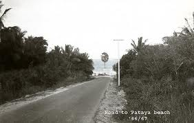 Road to Pattaya beach 1966/67