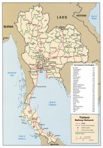 Thai railways map