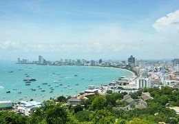 Pattaya bay and city view