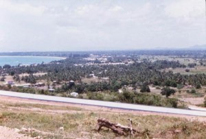 Pattaya city area in the 1960s